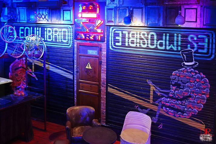 Fotos. Sala Bizz'art. Interiorismo y decoración en hostelería.