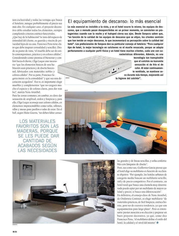 Imagen de la noticia: Equipamiento Hostelero. Mobiliario interior para Hoteles.