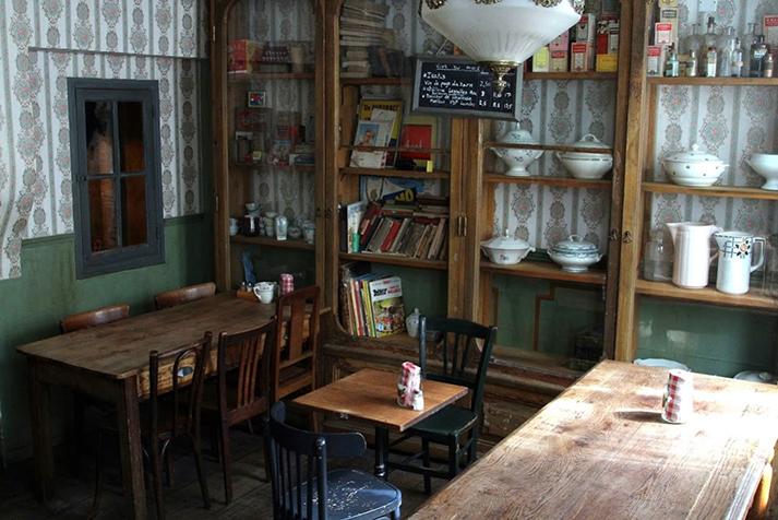 Fotos. Decoración de cafeterías vintage.