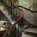 Imagen del diseño interior en las escaleras de N5.