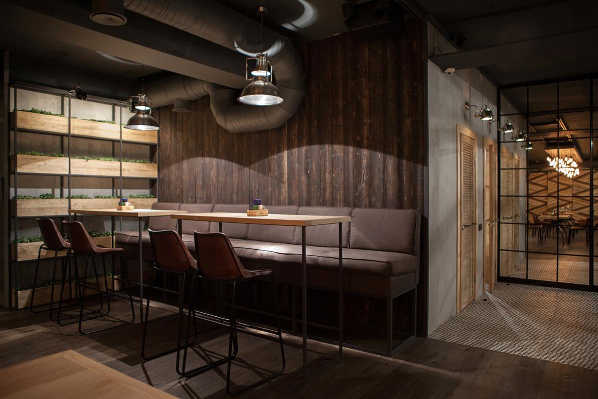 Imágenes del mobiliario en restaurante Barco.