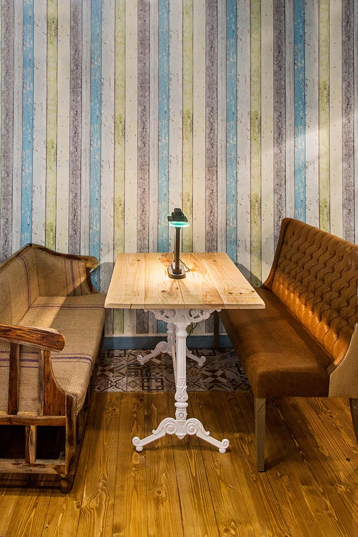 Muebles y dise o de espacios para hamburgueser as - Decoraciones de bares ...