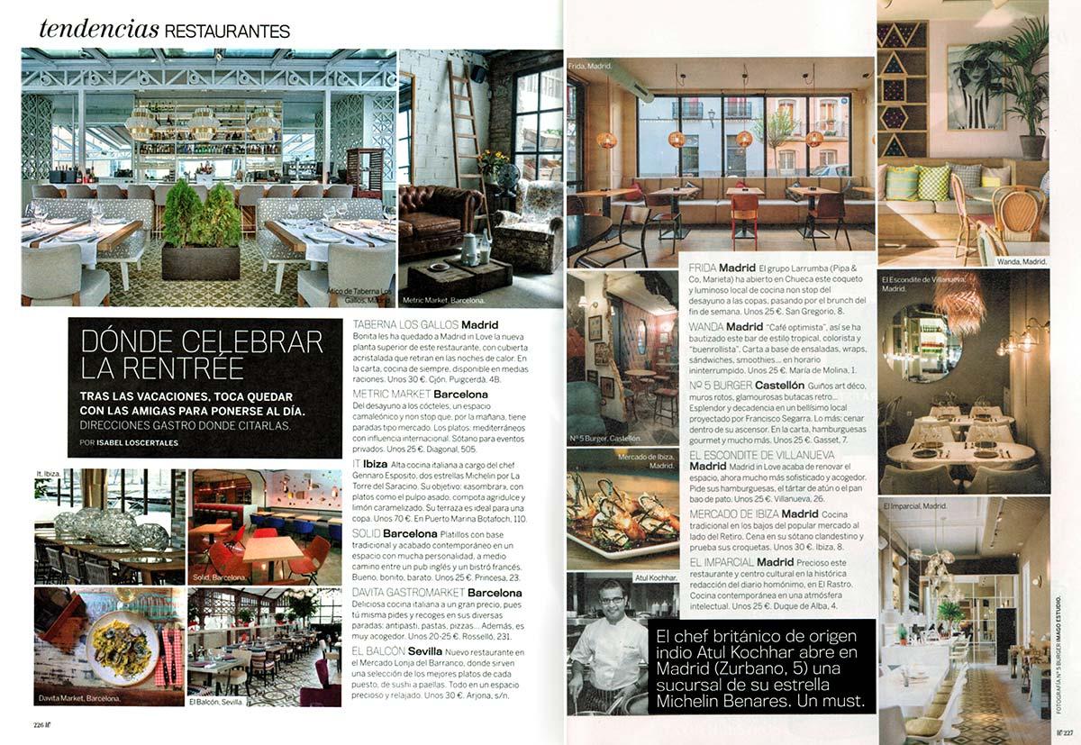 Noticias sobre las tendencias en el diseño de restaurantes.
