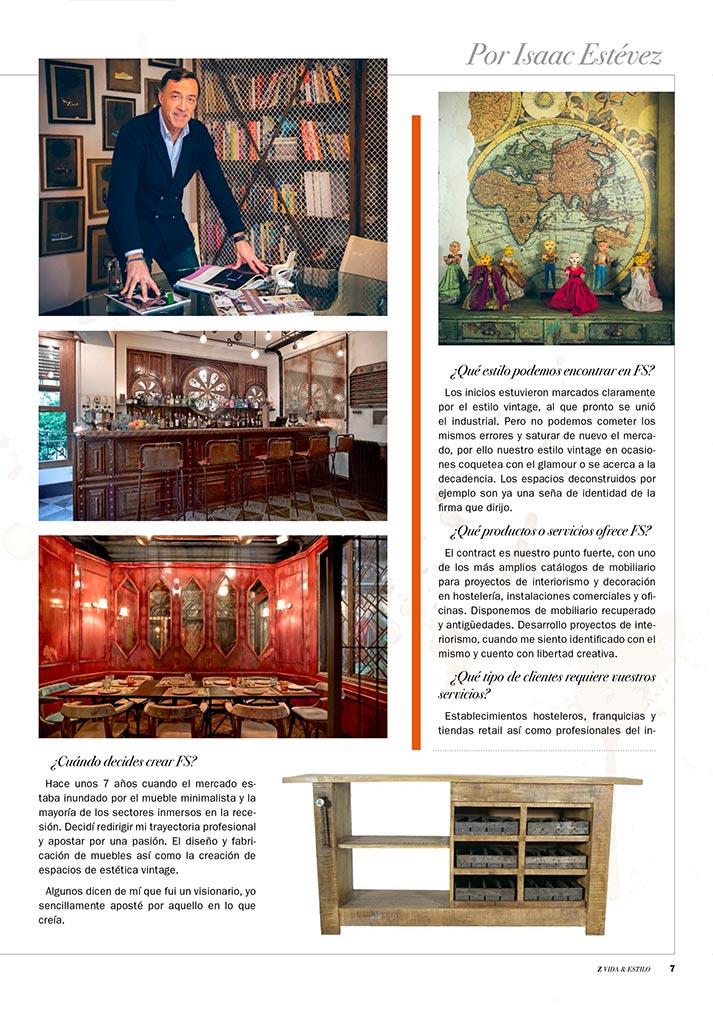 El legado vintage de Francisco Segarra en Z publicación.