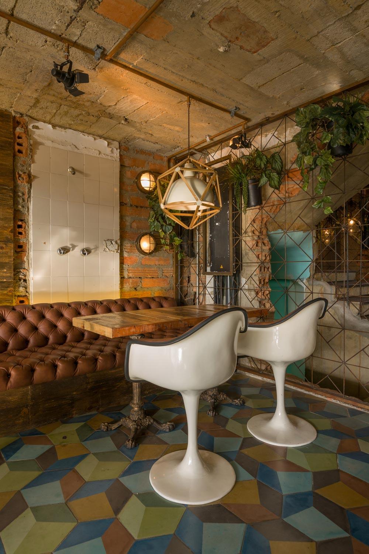 Muebles retro vintage en el interiorismo de Burdo.