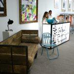 Foto del sofá Inma en Design Market mad 2011.