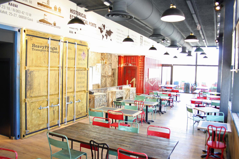 decoracion restaurante italiano barcelona los soprano. Black Bedroom Furniture Sets. Home Design Ideas