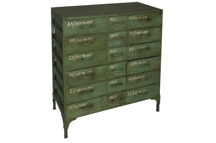 Mueble auxiliar metálico con cajones
