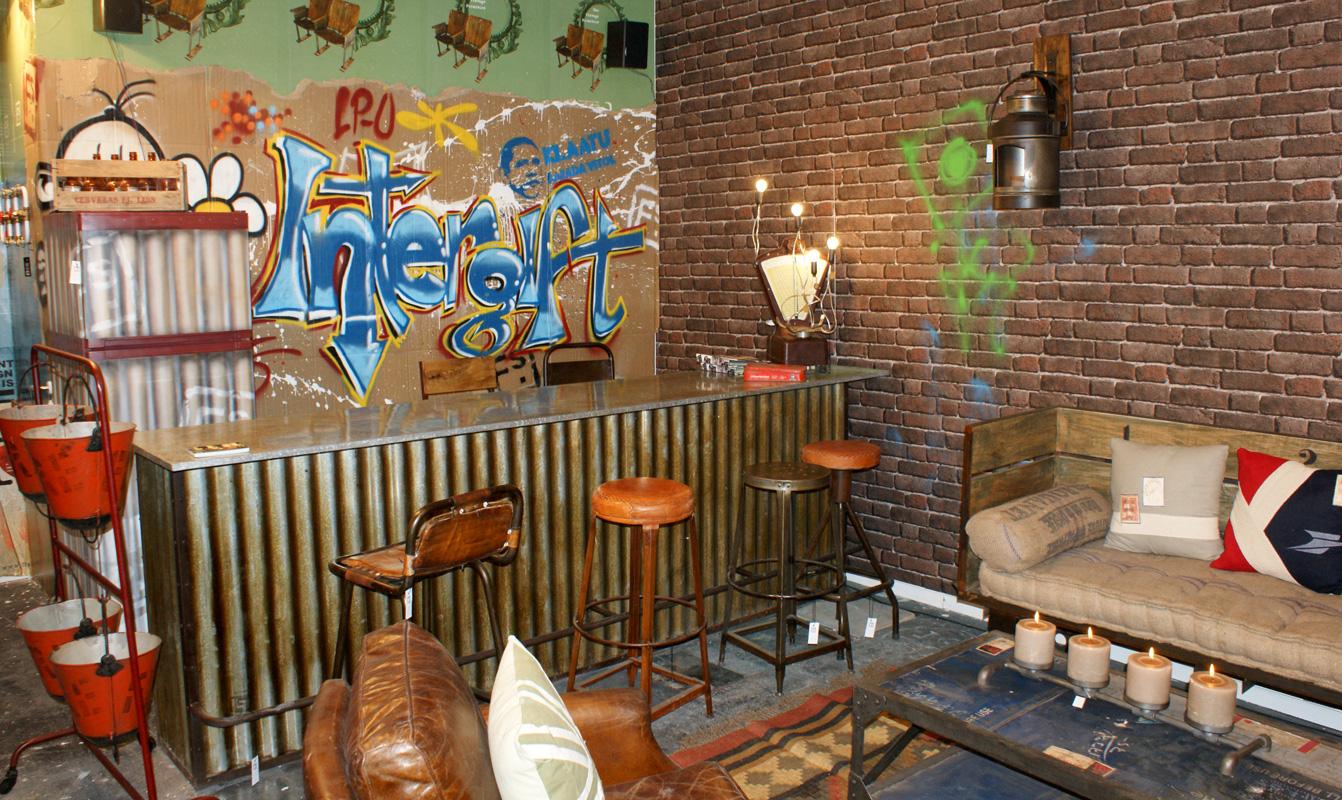 Revista nuevo estilo decor accion 2011 madrid hostal persal for Barra estilo industrial
