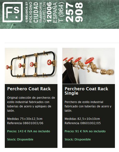 Percheros Coat Rack FS Francisco Segarra