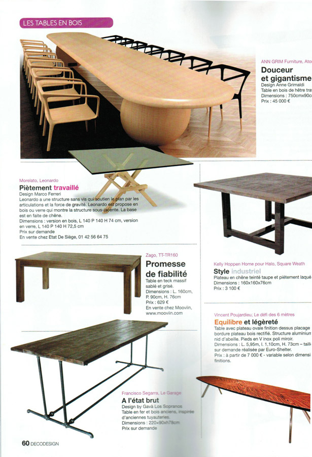Interior revista Decodesign en francia