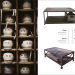 Foto de mesas de estilo industrial FS que se expondrán en Maison&Objet 2012