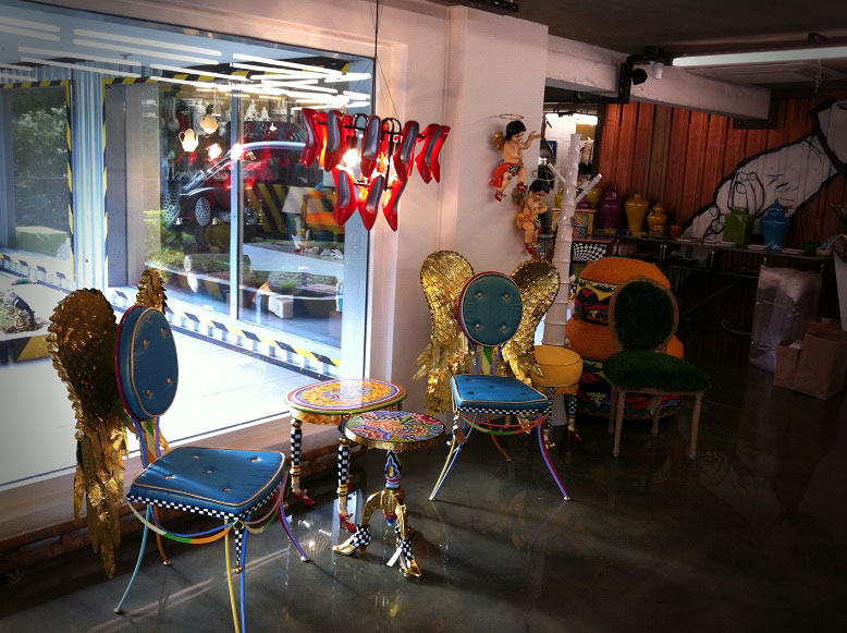 Mobiliario estilo vintage e industrial FS en Turquía