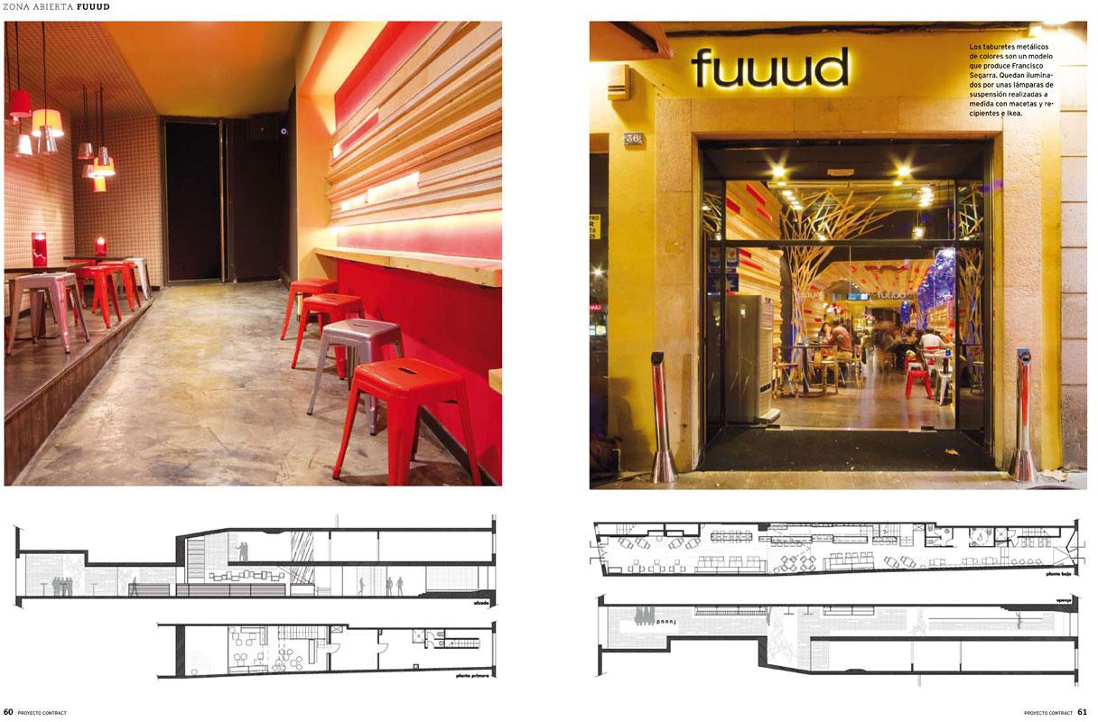 Reportaje de la revista Proyecto Contract sobre el restaurante Fuuud