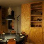 Fotos de las sillas vintage en la decoración del restaurante Vi Cool