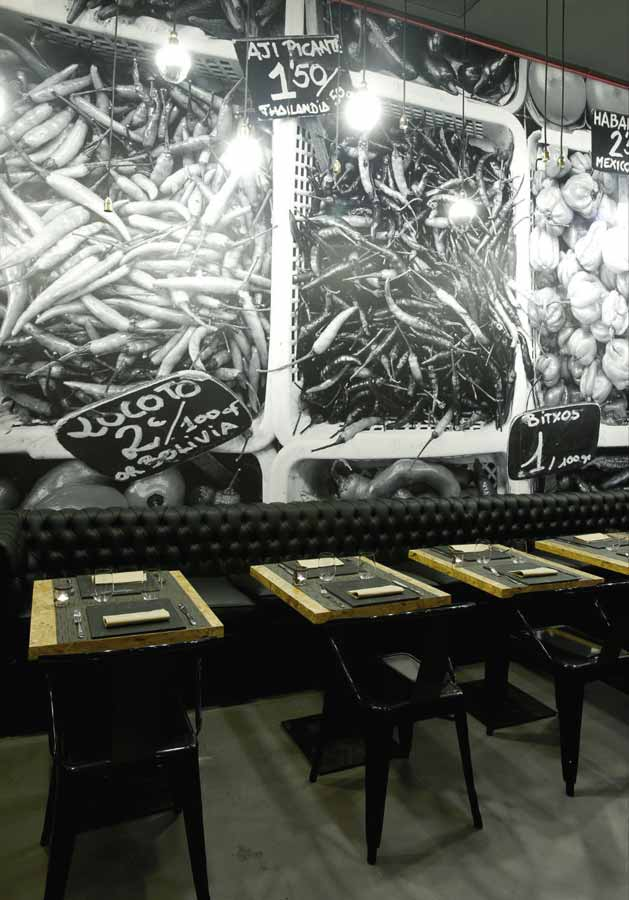Muebles vintage en proyecto decoracion restaurante vi cool - Restaurante sergi arola en madrid ...