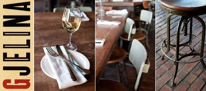 Decoración interior restaurante GJELINA