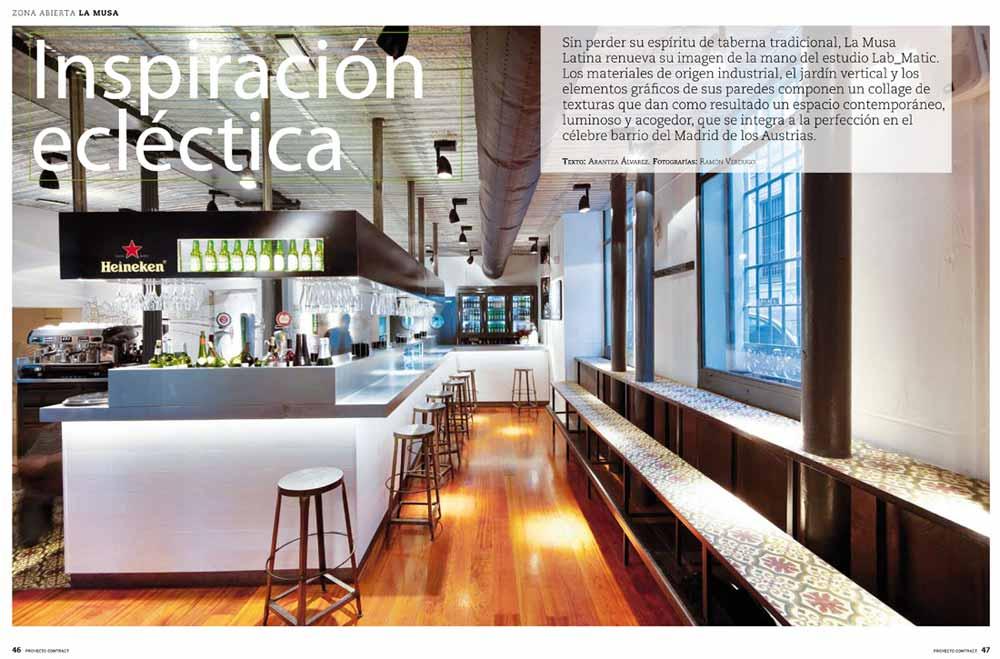 Fotos de l restaurante La Musa latina de Madrid en Proyecto Contract