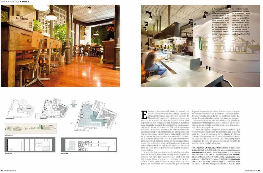 Fotos del proyecto de interiorismo para hostelería en Proyecto Contract