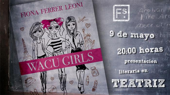 iona Ferrer firma de libros Wacu Girls