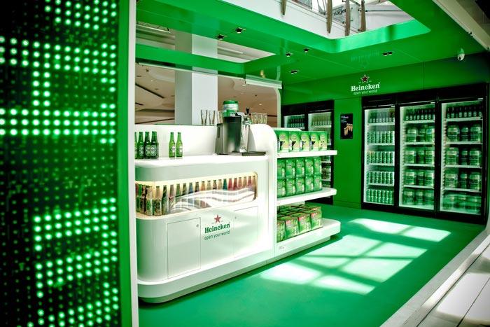 Imagen de Heineken Store proyecto interiorismo Labmatic