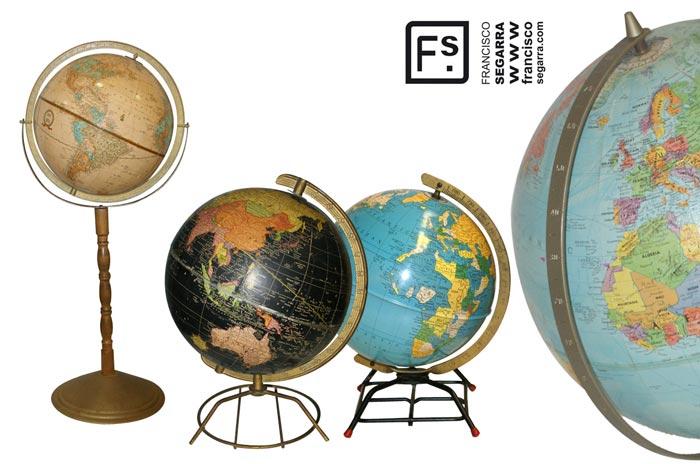 imágenes de globos terráqueos antiguos