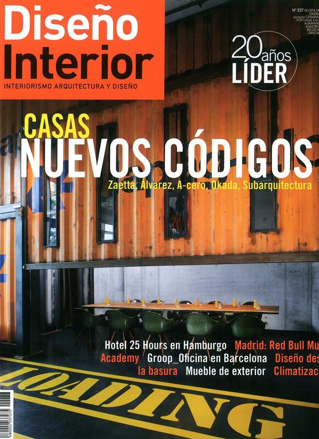 Imágenes de la portada de la revista Diseño Interior