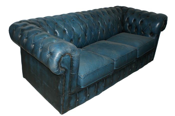 Sofá Chester original en tono azul