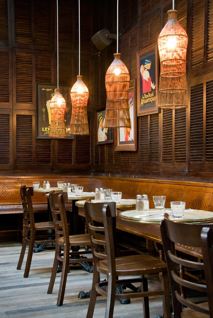 Fotos de las luminarias en el restaurante Taphouse