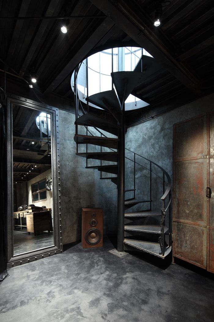 Decoraci n de estilo industrial y mobiliario para tiendas for Decoracion con figuras en la pared