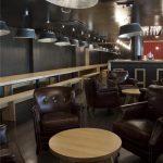 Fotos del diseño interior en del restaurante bolera Nicky's