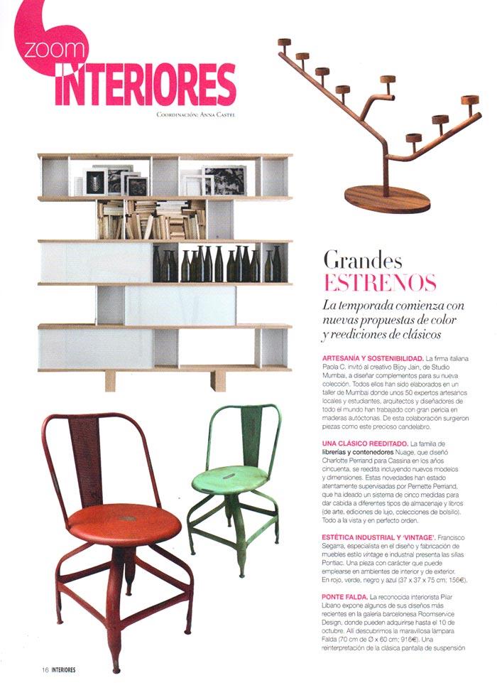 Imágenes de la silla Pontiac en la prensa especializada en decoración