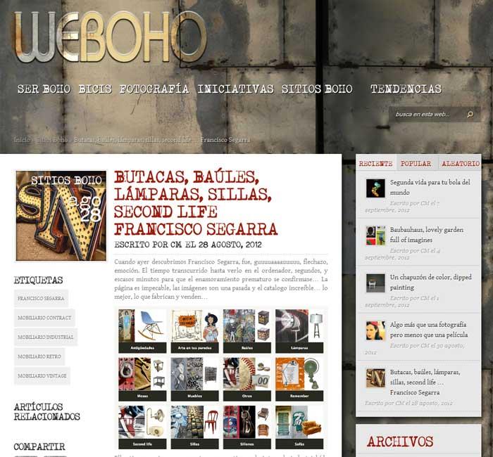 Imágenes de la firma Francisco Segarra en weboho.com