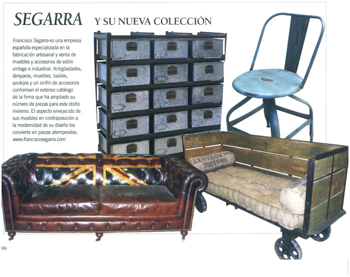 Imágenes del mobiliario de Francisco Segarra en Casa&Campo.