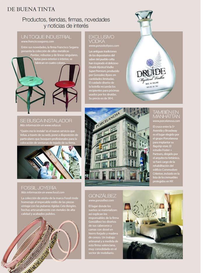 Imágenes de las sillas Pontiac en la revista Nuevo Estilo