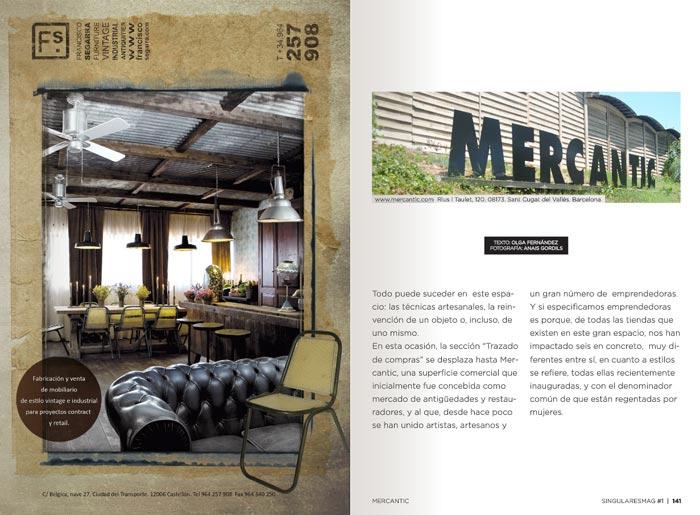 Fotos del mobiliario de Francisco Segarra en Singulares Magazine