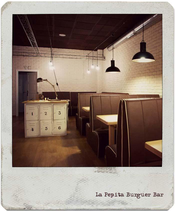 Imágenes de la Pepita Burguer Bar en espaciodeco.com