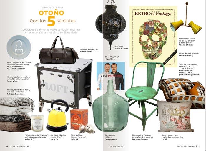 Imágenes de la silla Pontiac en Singulares Magazine