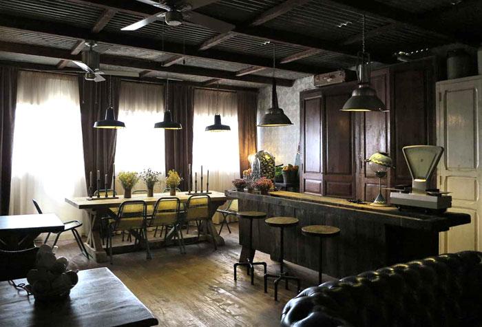 Imágenes del proyecto de interiorismo para hostelería The Blue Coffee
