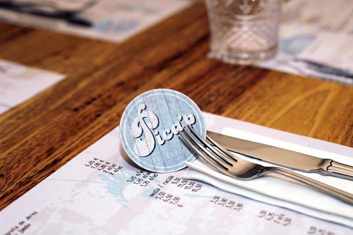 Imágenes de la identidad corporativa restaurante pica´p