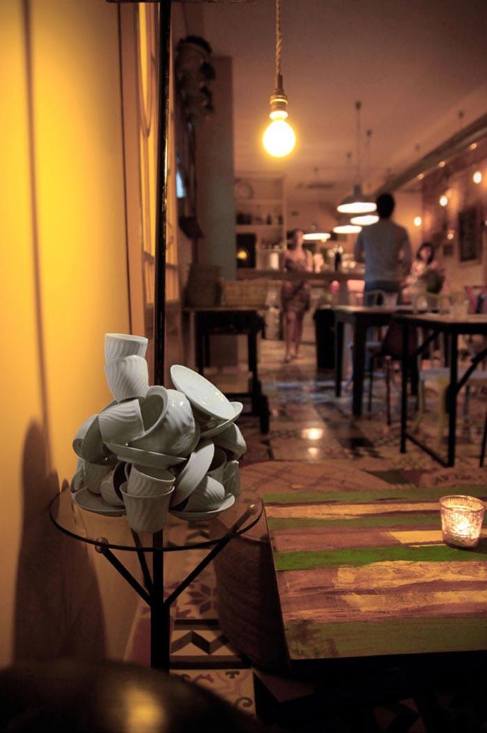 Imágenes del mobiliario del restaurante pica´p de Valencia