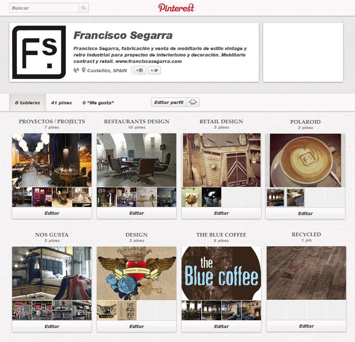 Captura de pantalla del tablero de Francisco Segarra en Pinterest