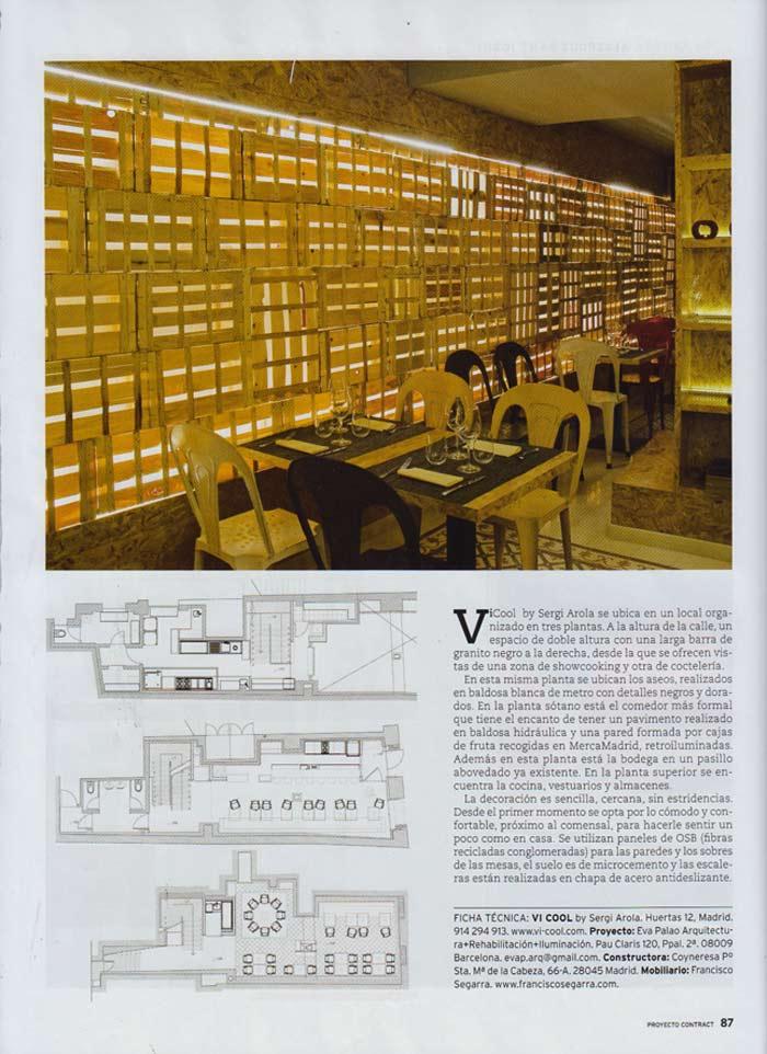 Imágenes del proyecto de interiorismo del restaurante ViCool