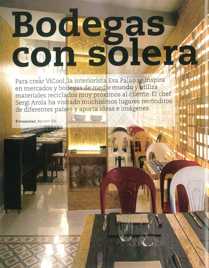 Imágenes del proyecto de interiorismo Vicool de Segi Arola