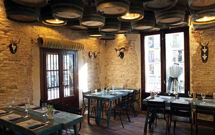 Imágenes de las Sillas Tívoli en el restaurante Casa Guinart