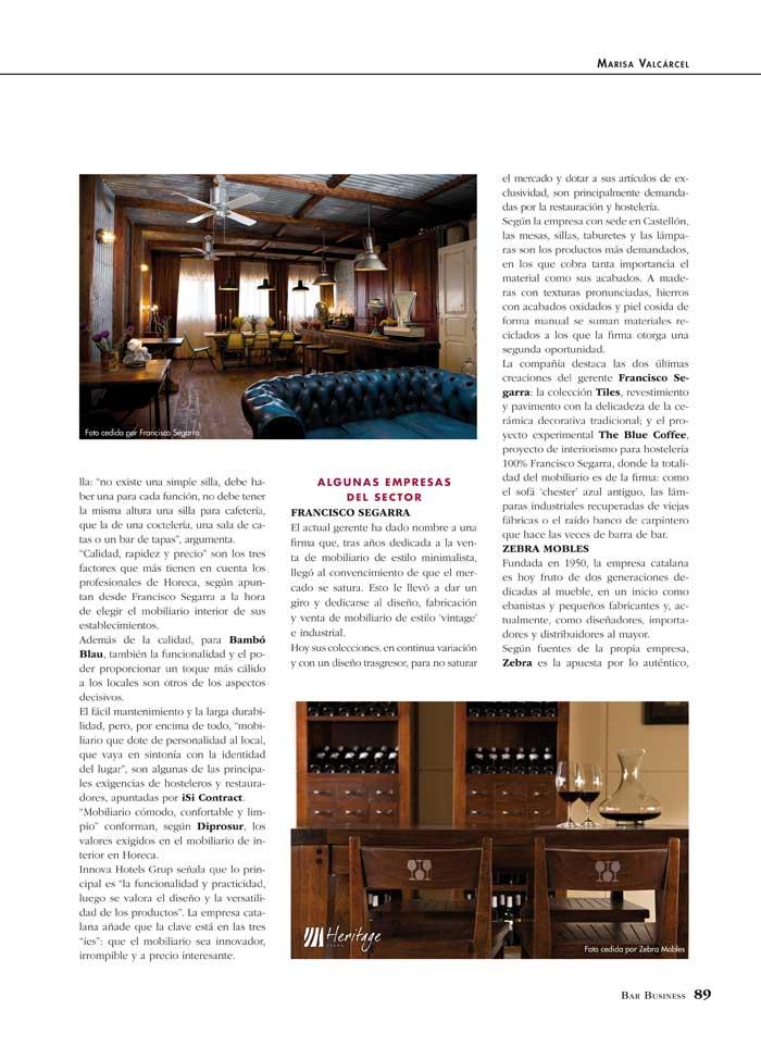 Fotos del reportaje sobre Francisco Segarra en Bar Business