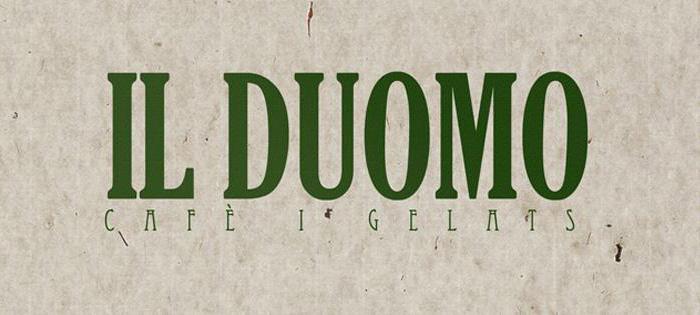 Logotipo cafeteria Il Duomo Lérida