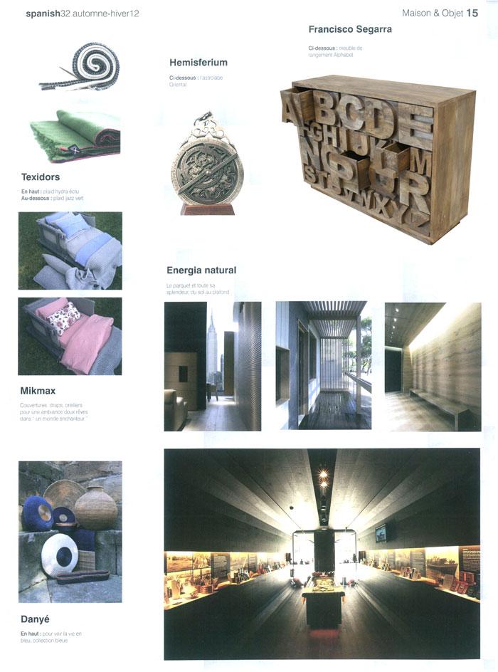 Imágenes del mueble Alphabet en la publicación Spanish 32