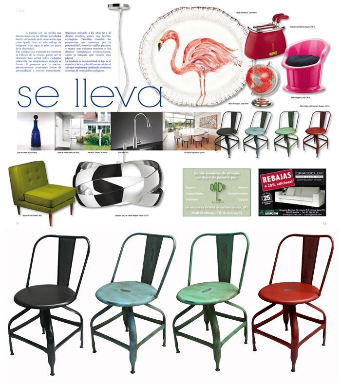 Imágenes de las sillas Pontiac en la publicación Plácet