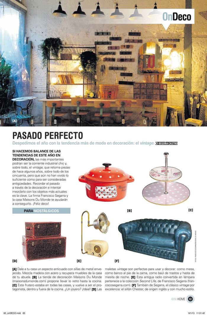Imágenes interiories de la publicación On Madrid de el periódico El Pais